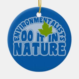 環境主義者のオーナメント-カスタマイズ セラミックオーナメント