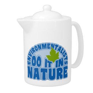 環境主義者のカスタムのティーポット