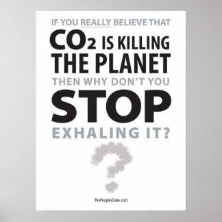 環境保護-吐き出す停止: 抗議ポスター ポスター