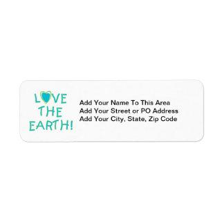 環境地球を愛して下さい ラベル