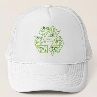 環境的に環境に優しい緑のリサイクルの帽子 キャップ