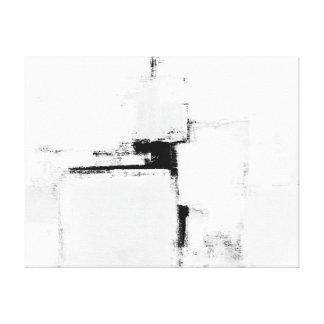 「環境」の白黒抽象美術 キャンバスプリント