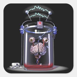 瓶のステッカーの頭脳 スクエアシール