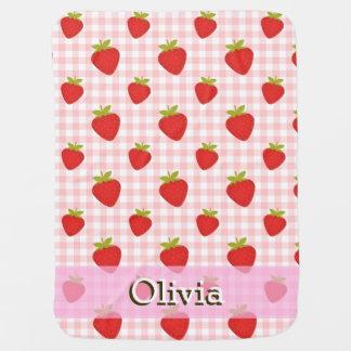 甘いいちごの夏のベビーのベビーカー用毛布2 ベビー ブランケット