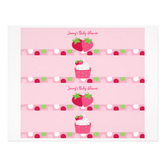 甘いいちごの水差しのラベル チラシ