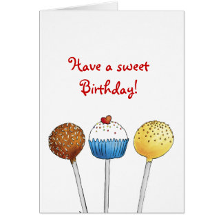 甘いお誕生日ケーキの破裂音-挨拶状--を持って下さい カード