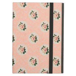 甘いぼろぼろのシックで柔らかいピンクのバラのヴィンテージの花柄 iPad AIRケース