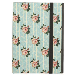 甘いぼろぼろのシックなバラのヴィンテージの花柄 iPad AIRケース