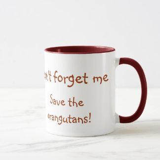 甘いオランウータンの野性生物のベビー マグカップ