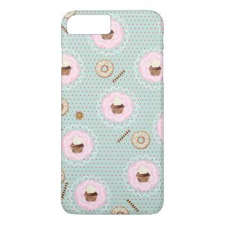 甘いカップケーキおよびドーナツ iPhone 8 PLUS/7 PLUSケース