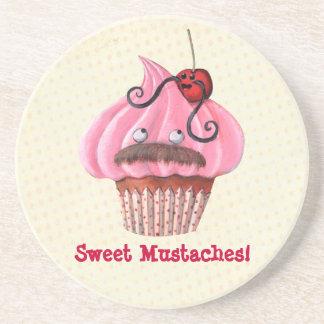 甘いカップケーキおよび髭 コースター