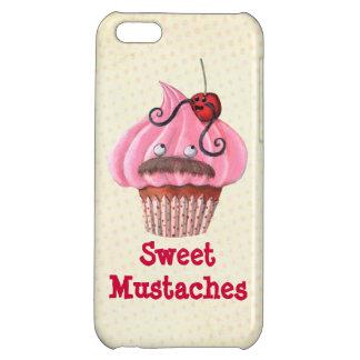 甘いカップケーキおよび髭 iPhone5Cケース