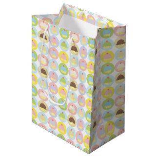 甘いカップケーキパターンギフトバッグ ミディアムペーパーバッグ
