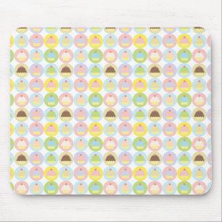 甘いカップケーキパターンマウスパッド マウスパッド