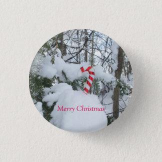 甘いキャンディ・ケーンのメリークリスマスのオーナメント 缶バッジ