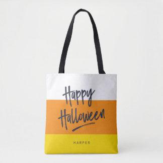 甘いキャンデートウモロコシのハッピーハローウィン トートバッグ