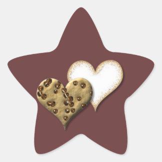 甘いクッキー愛 星シール