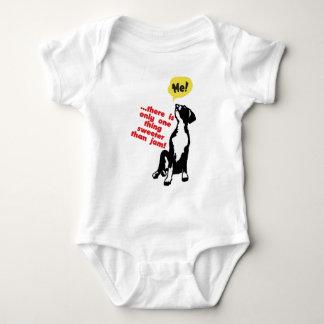 甘いグレートデーンの子犬 ベビーボディスーツ