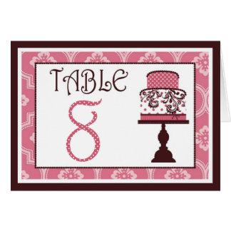 甘いケーキのテーブルカード8 カード