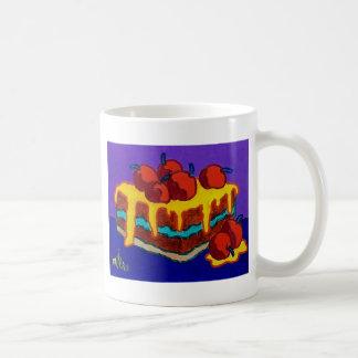 甘いケーキ コーヒーマグカップ