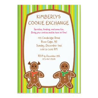 甘いジンジャーブレッドのクッキー交換招待状 カード
