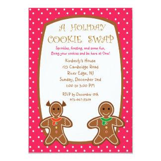 甘いジンジャーブレッドの休日のクッキーの交換の招待状 カード