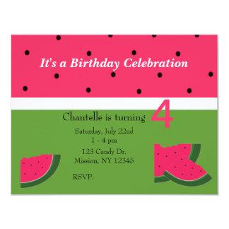 甘いスイカの誕生日の招待状 カード