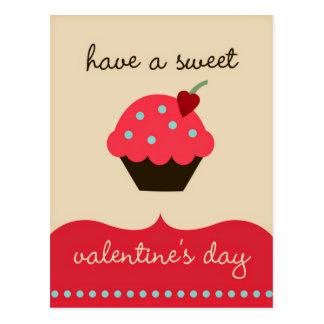 甘いバレンタインデーを過して下さい! おもしろいな郵便はがき ポストカード