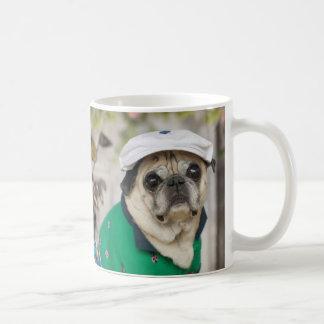 甘いパグのゴルフマグ コーヒーマグカップ