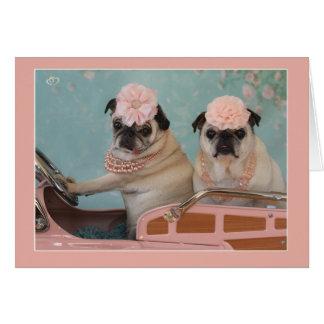 甘いパグの母の日の挨拶状 カード