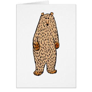 甘いヒグマのスケッチ カード