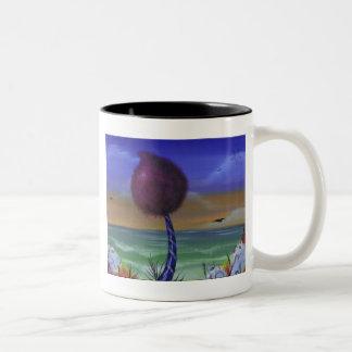 甘いビーチのマグ ツートーンマグカップ