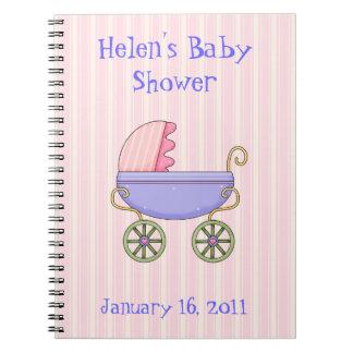 甘いピンクのベビーシャワーのノート ノートブック