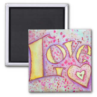 甘いピンク愛芸術の絵画の磁石 マグネット