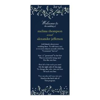 甘いベビーの呼吸結婚式プログラム カード
