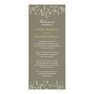 甘いベビーの呼吸結婚式プログラム 10.2 X 23.5 インビテーションカード