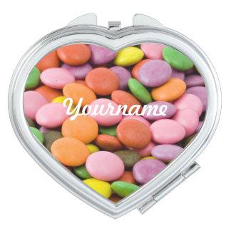 甘いボンボン菓子のカスタムな小型の鏡