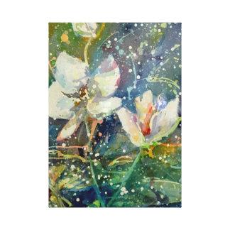 甘いマグノリアの水彩画のプリント キャンバスプリント