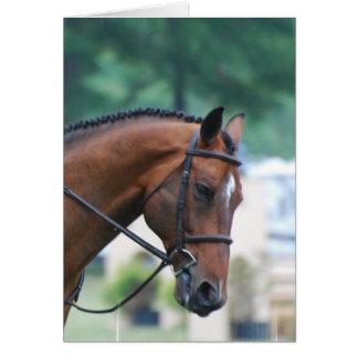 甘いモーガンの馬の挨拶状 カード