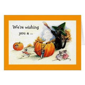 甘いヴィンテージのハロウィンの挨拶状 カード