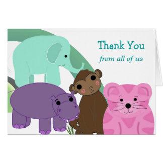 甘い動物園動物は感謝していしています カード
