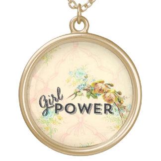 甘い女の子力のネックレスのヴィンテージのスタイル ゴールドプレートネックレス