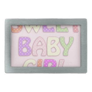 甘い女の赤ちゃん 長方形ベルトバックル