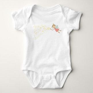 甘い妖精および星のTシャツ ベビーボディスーツ