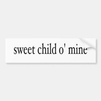 甘い子供O鉱山 バンパーステッカー