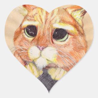 甘い子猫 ハートシール