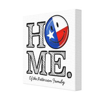 甘い家のテキサス州の微笑の旗の引っ越し祝いパーティー キャンバスプリント