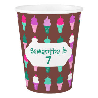 甘い御馳走アイスクリームコーンのデザイン 紙コップ