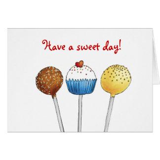 甘い日-ケーキの破裂音-を挨拶状過して下さい カード