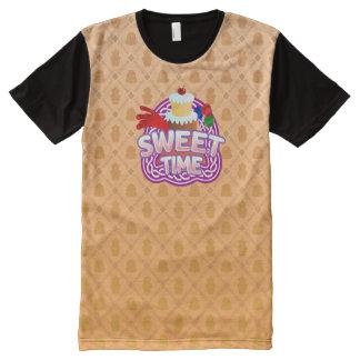 甘い時間のオレンジすべての印刷されたTシャツ オールオーバープリントT シャツ